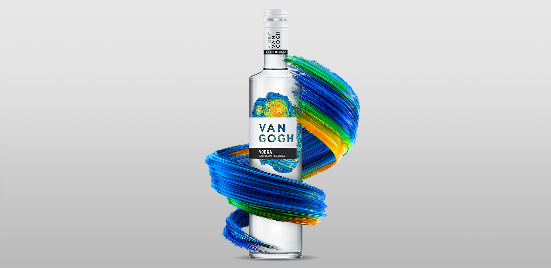 Van Gogh Vodka - with swirl graphic
